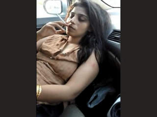 Desi Randi Bushra Nude in Car 2 video 2