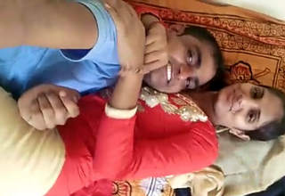 Desi couple enjoying sex in Bedroom