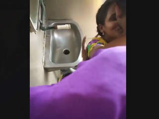 Couple fucking inside toilet of train secretly recorded by co-passangers 1