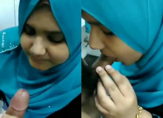hot hijab girl blowjob